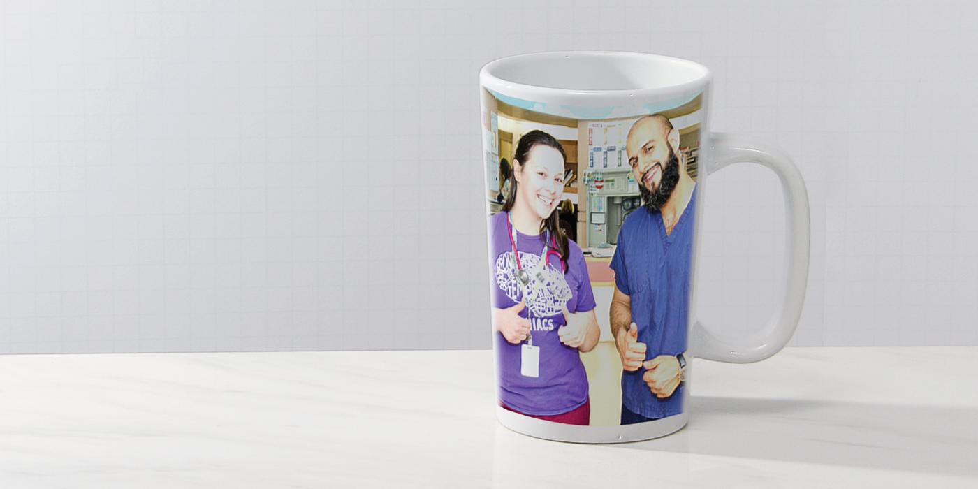 #1016photo12oz12oz Cone Shape Photo Mug