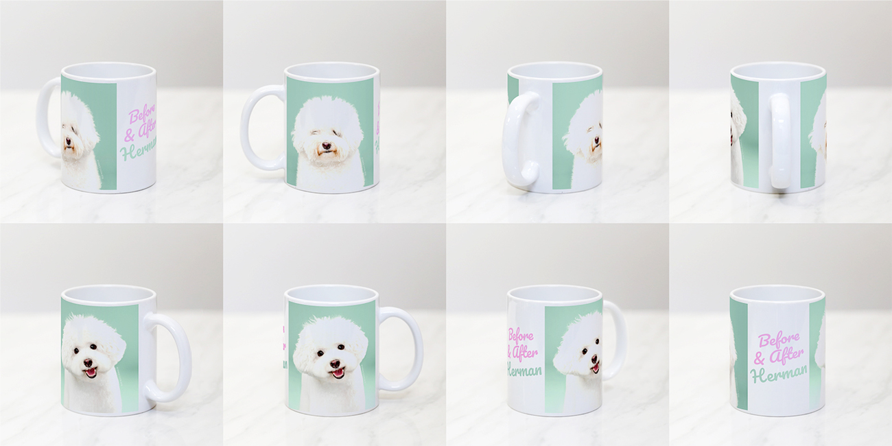 #7102photo11oz11oz White C-Handle Photo Mug