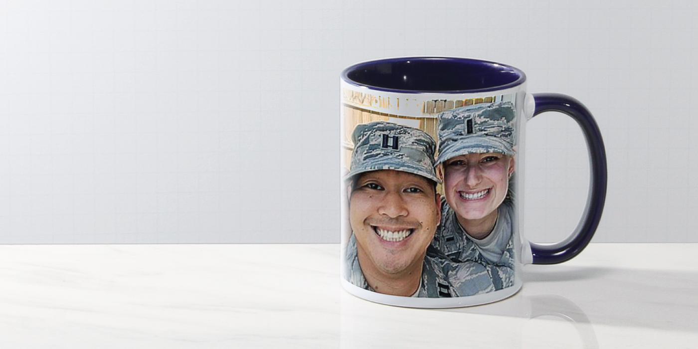 #7102ttphoto11oz11oz Two Tone C-Handle Photo Mug