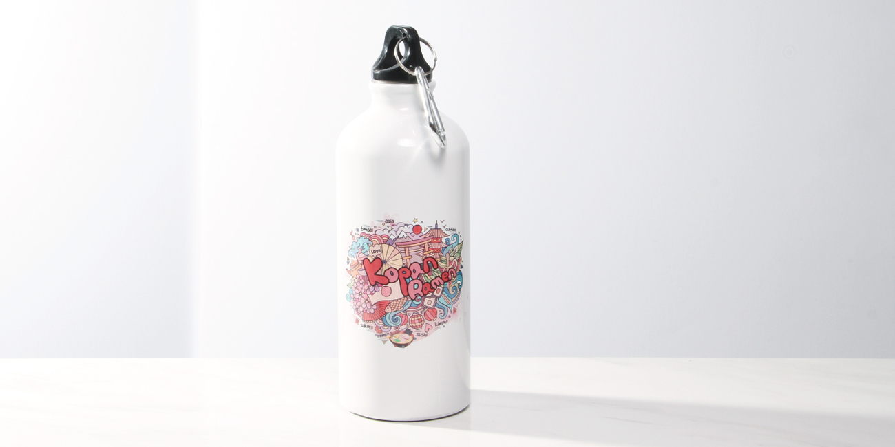 #RK8005PH-WT22oz22oz Aluminum Photo Bottle